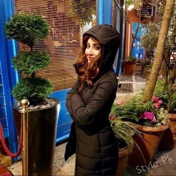 Ayesha Khan Enjoying Winters in London