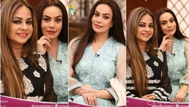 Sadia Imam With Her Sister In Faysal Qureshi Show