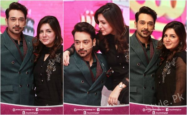 Beautiful Clicks Of Faysal Qureshi With His Wife Sana