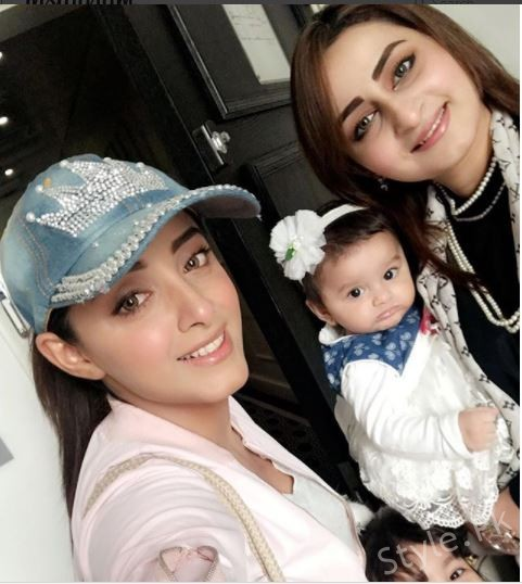 Recent Clicks Of Sanam Chauhdry with her Sister