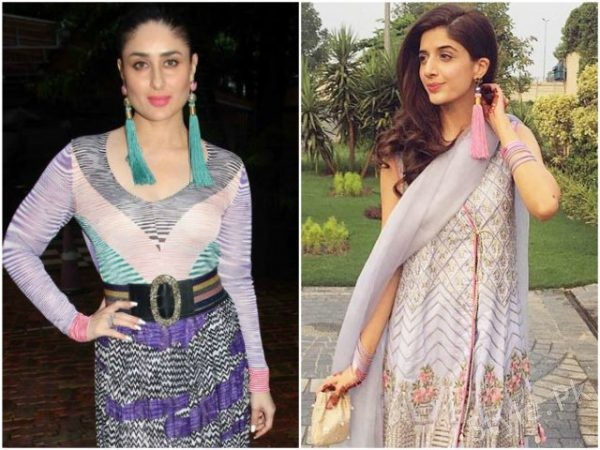 Mawra Hocane and Kareena Kapoor – tasselled earrings