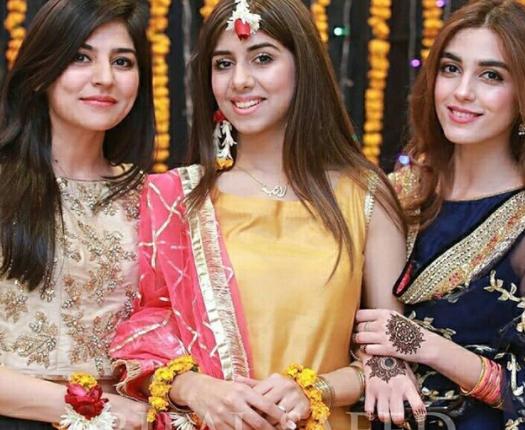 Sanam Baloch And Maya Ali At The Mayun Of Their Friend