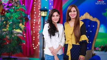 Beautiful Hina Altaf In Farah Sadya's Morning Show