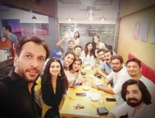 Pakistani Celebrities Spotted At Iftar Party Hosted By Haris Qadeer