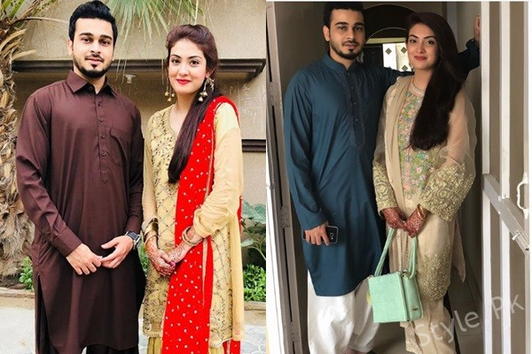 See Aleezay Tahir with her Husband on Eid