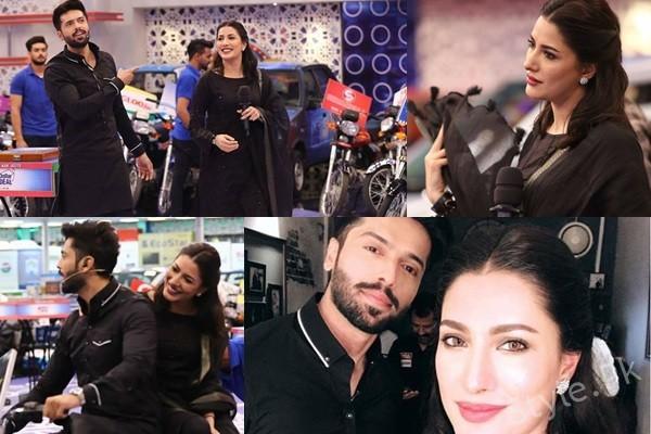 See Mehwish Hayat with her Hero Fahad Mustafa in Jeeto Pakistan