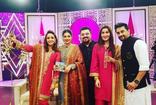 Three Morning Show Queens In One Frame During Recording Of Eid Show