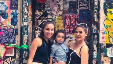 See Ayesha Omar with her Family in New York