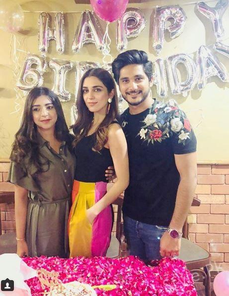 See Maya Ali got a Birthday Surprise from her Bhai and Bhabhi
