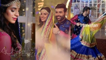 See Maham Amir and Faizan Sheikh Mehndi Pictures took Internet by Storm