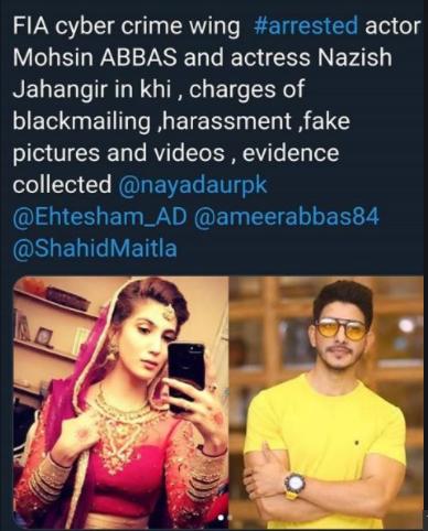 Mohsin Abbas Haider And Nazish Jahangir