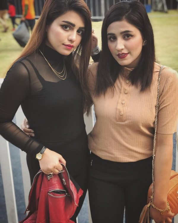 Actress Anumta Qureshi with her Sister Misbah