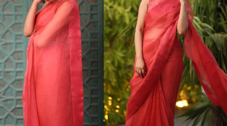 Mansha Pasha Looks Elegance And Grace In Saree