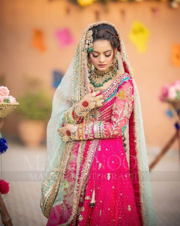 Minal Khan Latest Bridal Photoshoot for LA Fiore