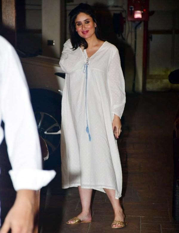 Kareena Kapoor Khan Flaunts Her Baby Bump in White Dress, Her Pregnancy Glow is Unmissable!