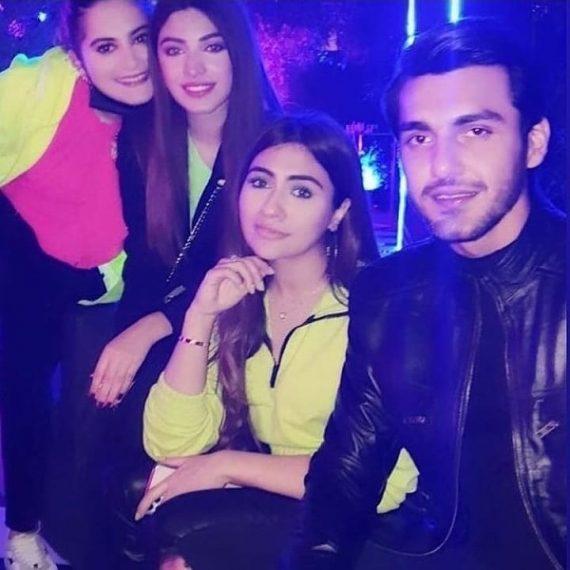 Lovebirds Minal Khan and Ahsan Ikram at birthday party