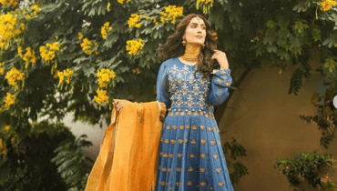 Ayeza Khan Limelight Winter Casual Dresses