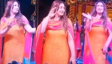 Film Actress Saima Dancing In A Recent Wedding