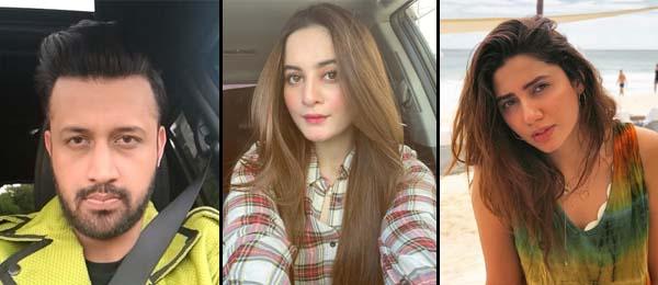 Aiman khan congratulates fellow Forbes Mahira and Atif aslam