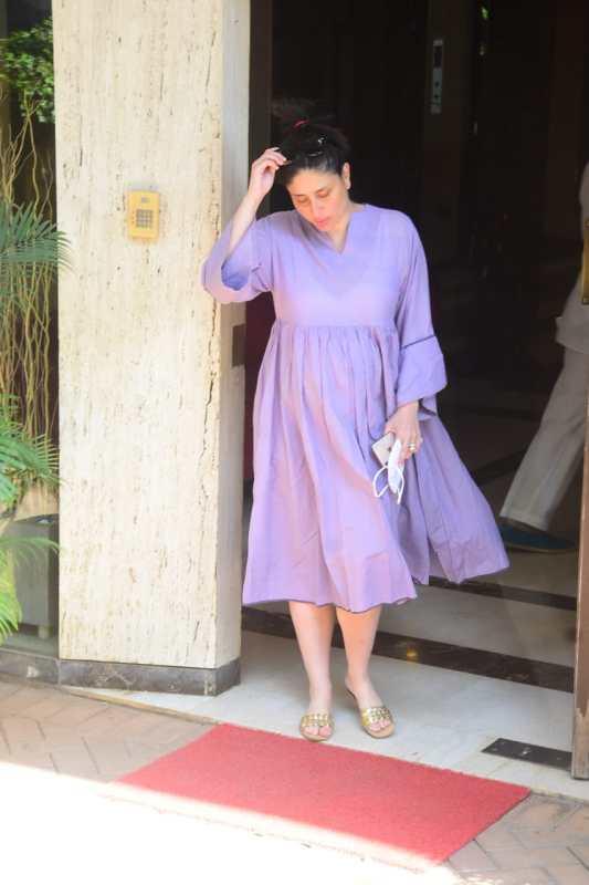 Mom-to-be Kareena nails maternity fashion in lavender dress