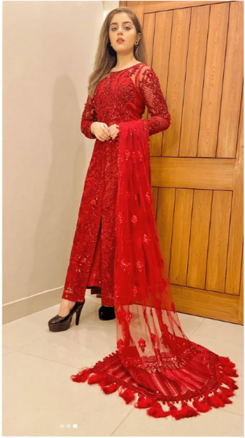 Alizeh Shah Looks Hot In All-Red Gorgeous Attire