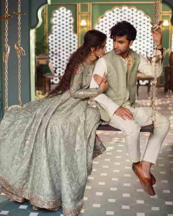 Sajal Ali And Ahad Raza Mir Bridal Dresses Photoshoot