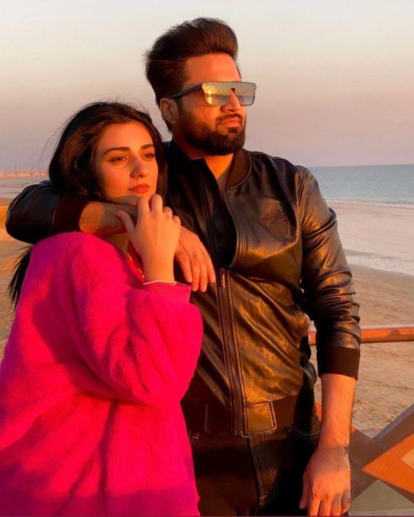 Beautiful Couple Sarah Khan and Falak Shabir Latest Clicks