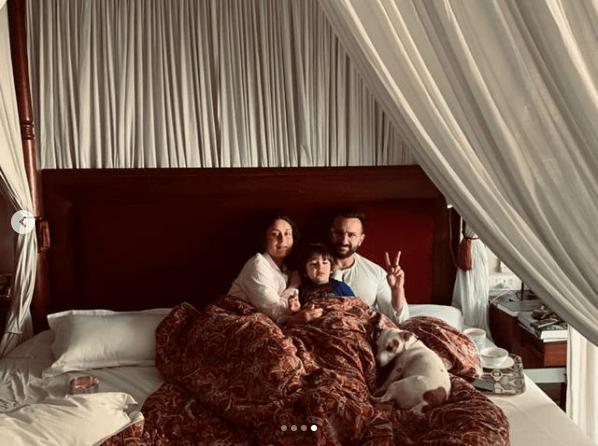 Kareena Kapoor Shares Adorable pic with Saif & Taimur on New Year Eve