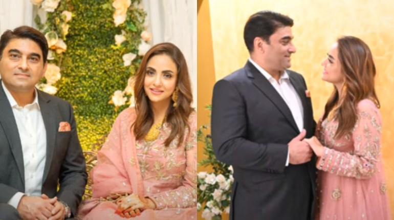 Nadia Khan Looks Gorgeous In Pink On Her Wedding Reception