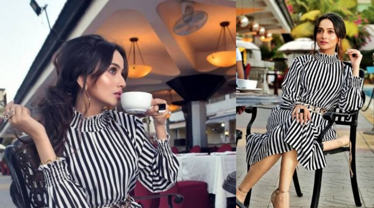 Zarnish Khan Is In Love With Striped Dresses