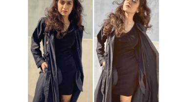 Actress Hajra Yamin Slaying In All Black