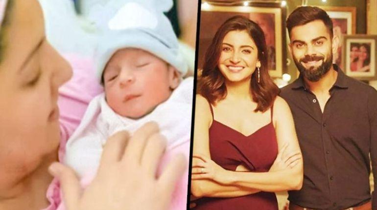 Virat Kohli Anushka Sharma share first glimpse of baby girl