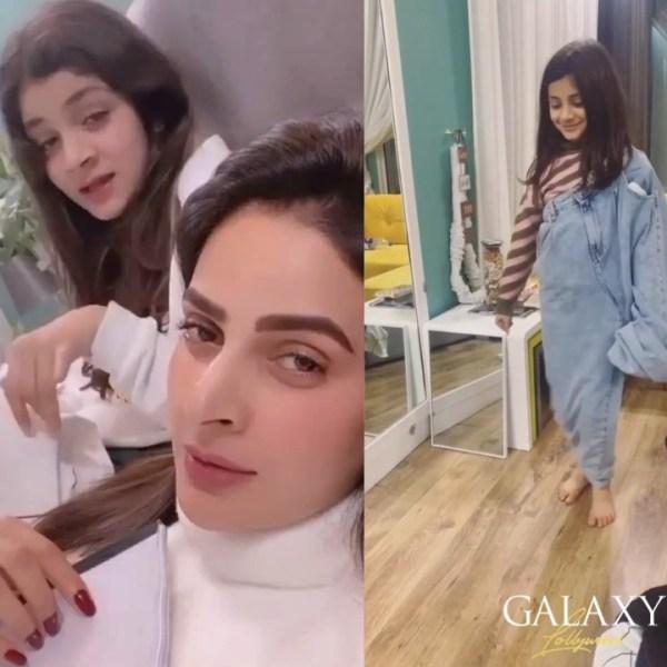 Saba Qamar Spend Quality Time With Her Niece