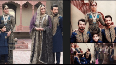 Saba Faisal Family Photoshoot for Designer HSY