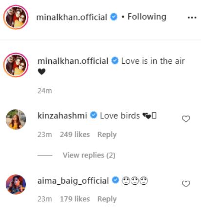 Minal Khan Celebrates Valentine's Day With Her fiance