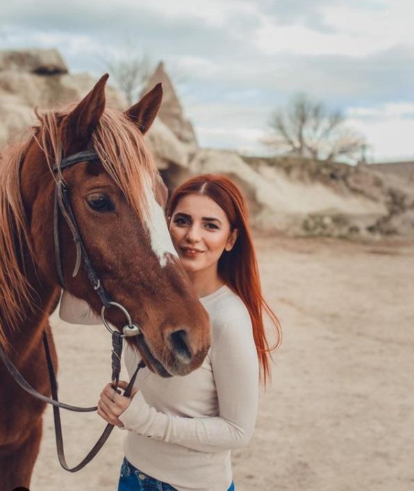 Singer Momina Mustehsan horse riding in Scenic Cappadocia
