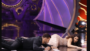 Salman Khan Falls Off Stage While Dancing With Nora Fatehi