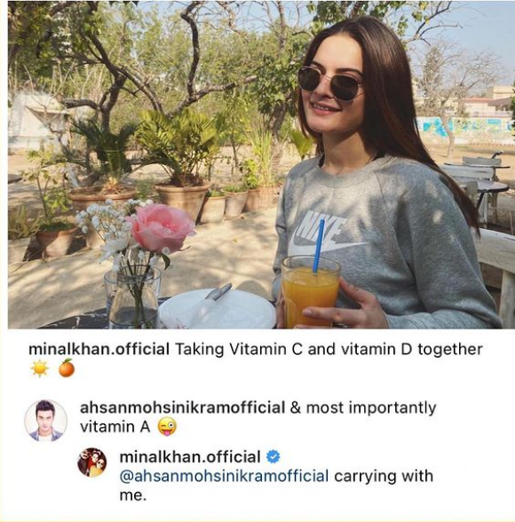 Minal Khan hits back at critics for Bold Photo with Ahsan Mohsin