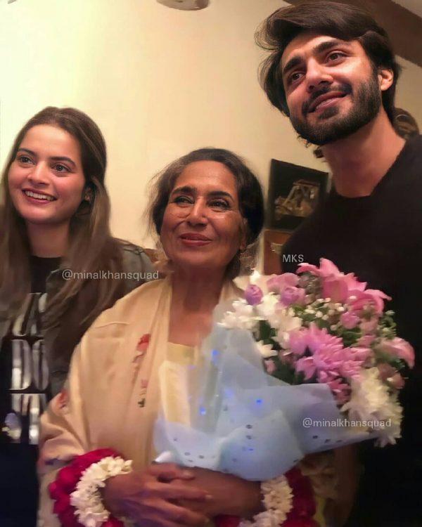 Minal khan with Boyfriend Ahsan celebrate his Grandma Birthday