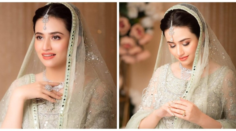 Sana Javed Looks Celestial In Bridal Ensemble