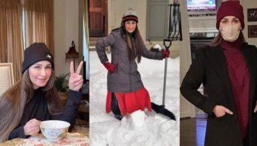Reema Khan Looks Adorable In Her Winter Wardrobe In USA