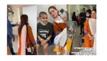 Minal Khan Visits Cancer Patients At Indus Hospital