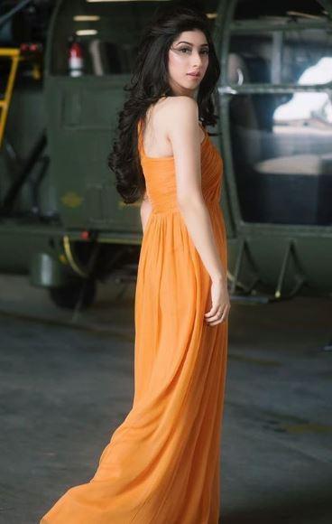 Mariyam Nafees Slays In A One Shoulder Orange Gown