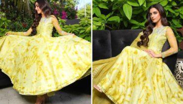 Maya Ali Rocks the Tie Dye Trend In Summery Yellow