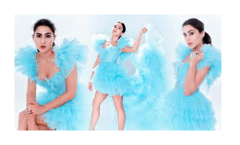 Sara Ali Khan looks no less than Cinderella in Blue Ruffled Gown
