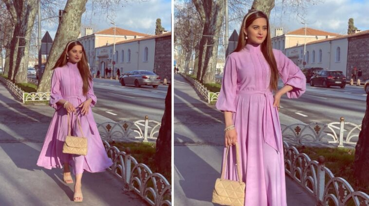 Aiman Muneeb Introduces lavender pink dress of the Season