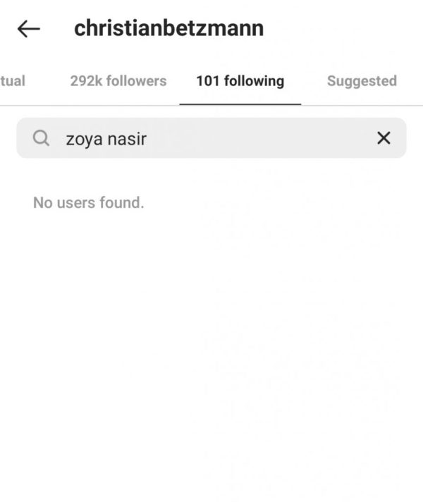 Zoya Nasir & Christian Betzmann breakup rumors are Circulating
