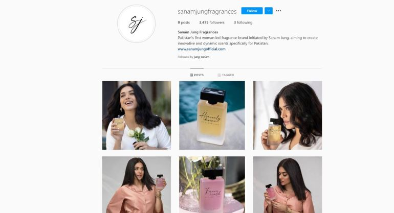 Actress Sanam Jung Launches Her Very Own Fragrance Line