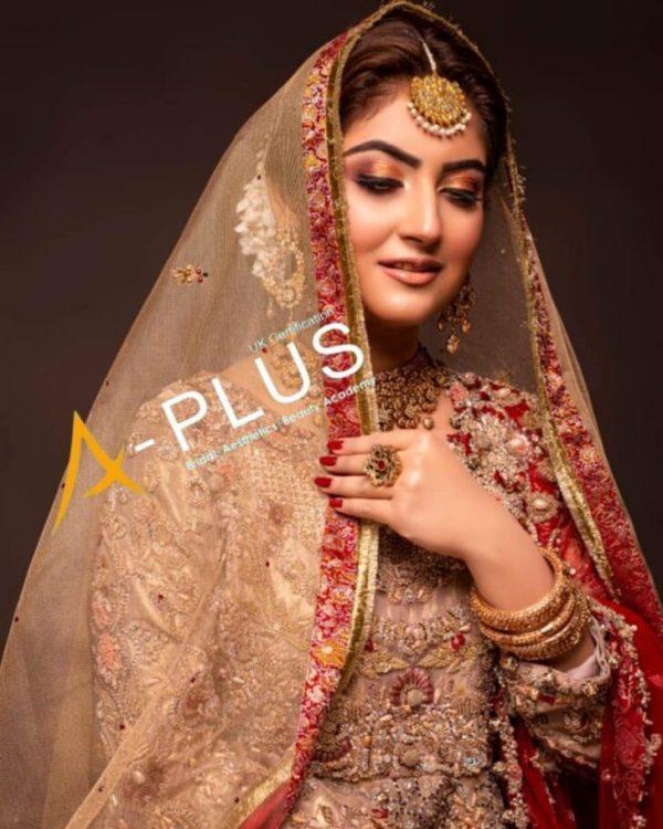 Hiba Bukhari Plays to Her Desi Looks In a Bridal Attire