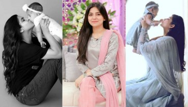 Adorable Clicks Of Sanam Baloch With Her Daughter
